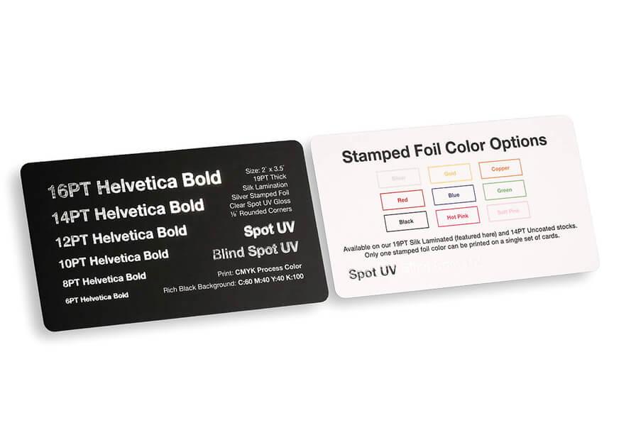 Foil Stamped Business Cards - Foil Stamping | Primoprint
