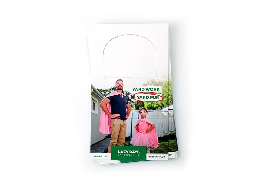 100LB Gloss Cover Door Hangers