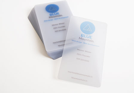 20pt frosted 04 - Translucent Business Cards