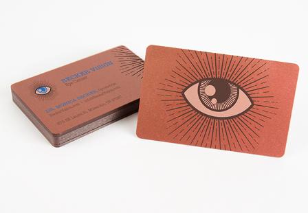 30mil Metallic Bronze Plastic Cards