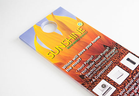 Glossy UV Coated Door Hangers