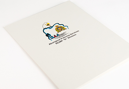 Glossy UV Coated Presentation Folders