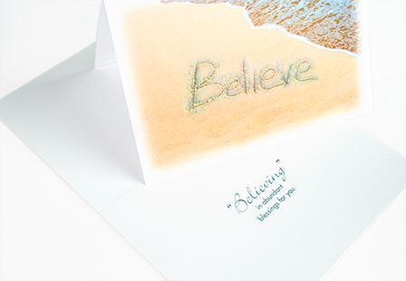 Velvet Laminated Greeting Cards