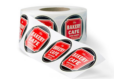 White BOPP Labels Roll Labels
