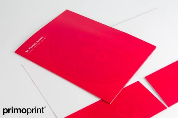 Matte Presentation Folder Printed by Primo Print