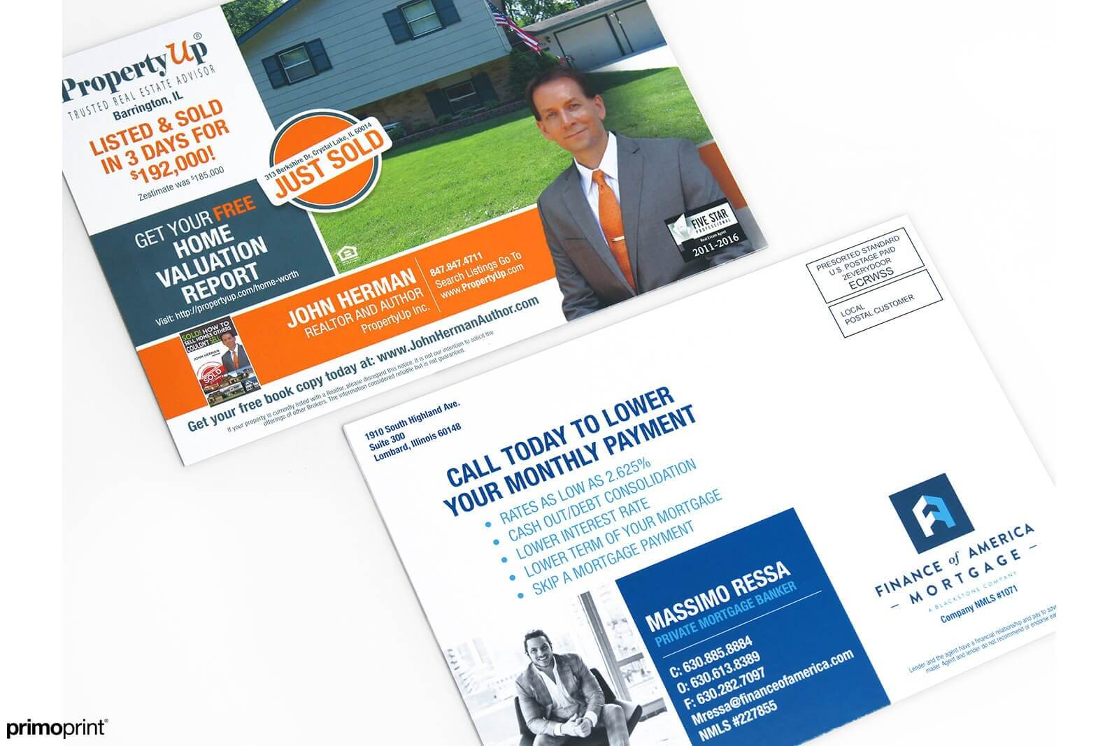 Reach potential buyers with Realtor EDDM® postcards. Printed and designed by Primoprint.