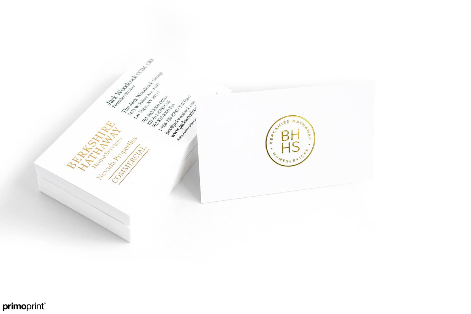 Custom 14PT Uncoated business card with Gold Stamped Foil.