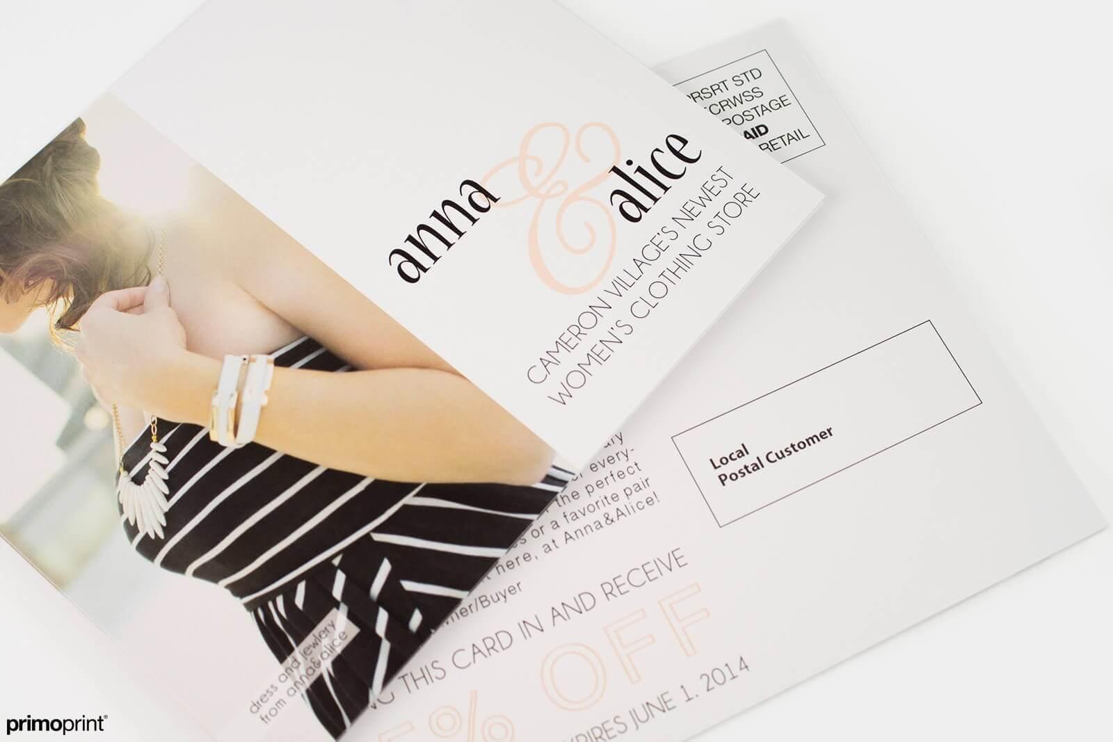 Custom printed 16PT Matte EDDM® Postcard.