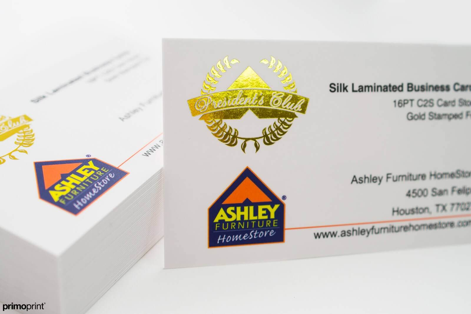 Gold Stamped Foil Business card