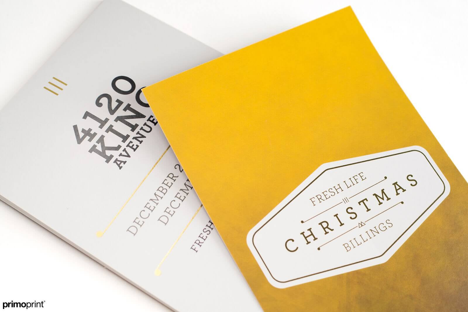 16PT Uncoated Inline Foil Postcard Printed by Primoprint