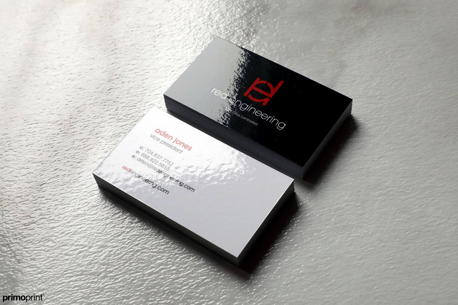 22PT thick Glossy Laminated Business Card.