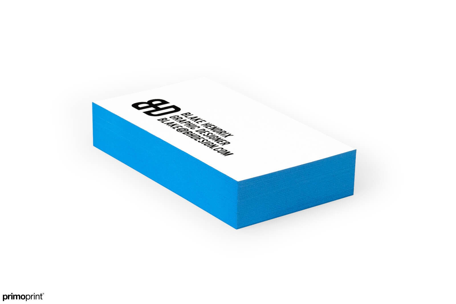 Make a statement with our 32PT uncoated Blue Painted Edge business card designed by Primoprint.