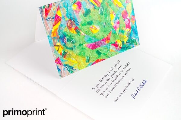 uncoated greeting card