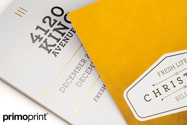 16PT Uncoated Inline Foil Postcard Printed by Primo Print