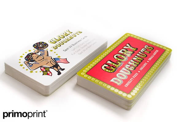 spot uv business card, business card