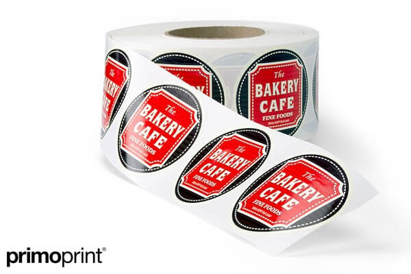 White BOPP Roll Label Printed by Primo Print