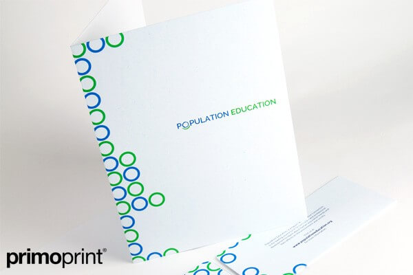 Smooth Uncoated Presentation Folder Printed by Primo Print