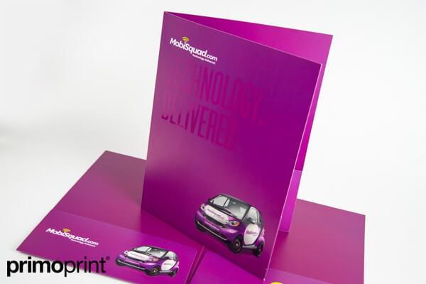 Spot UV Presentation Folder Printed by Primo Print