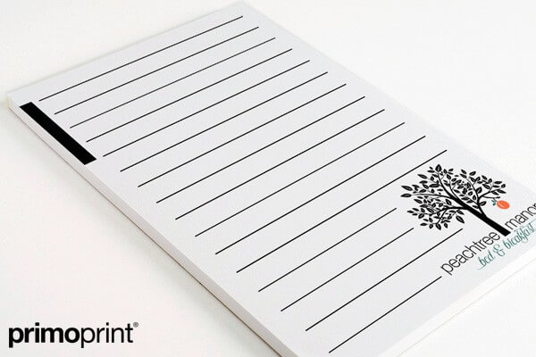 Smooth White Notepad Printed by Primo Print