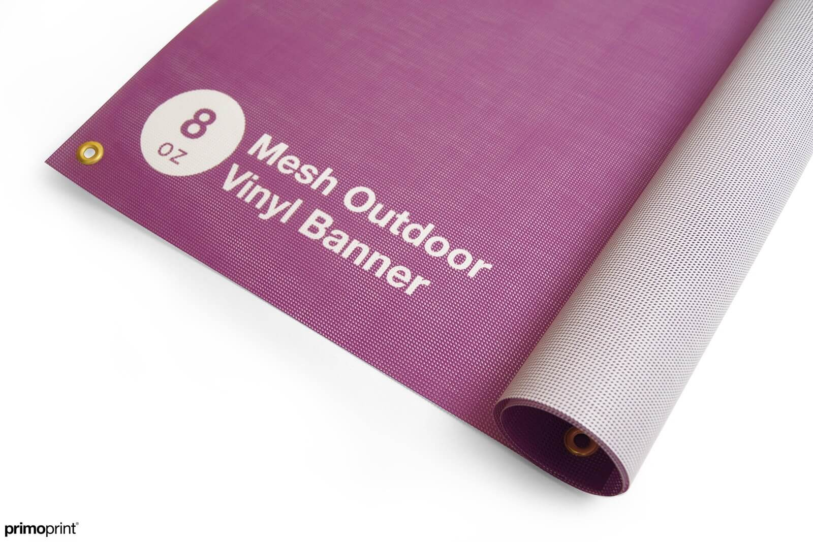 8oz mesh outdoor vinyl banner.