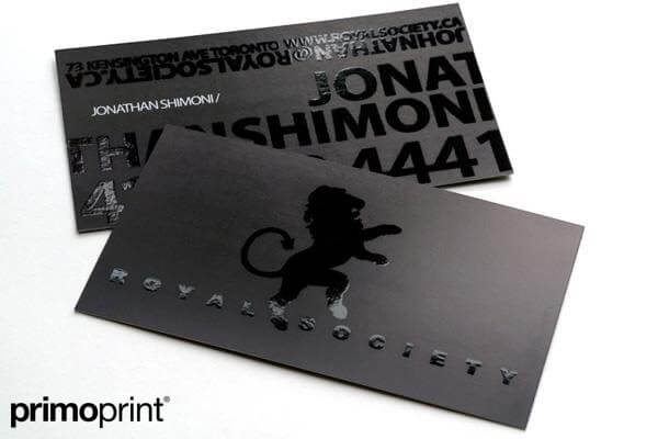 16PT Silk Laminated Business Card Printed by Primo Print