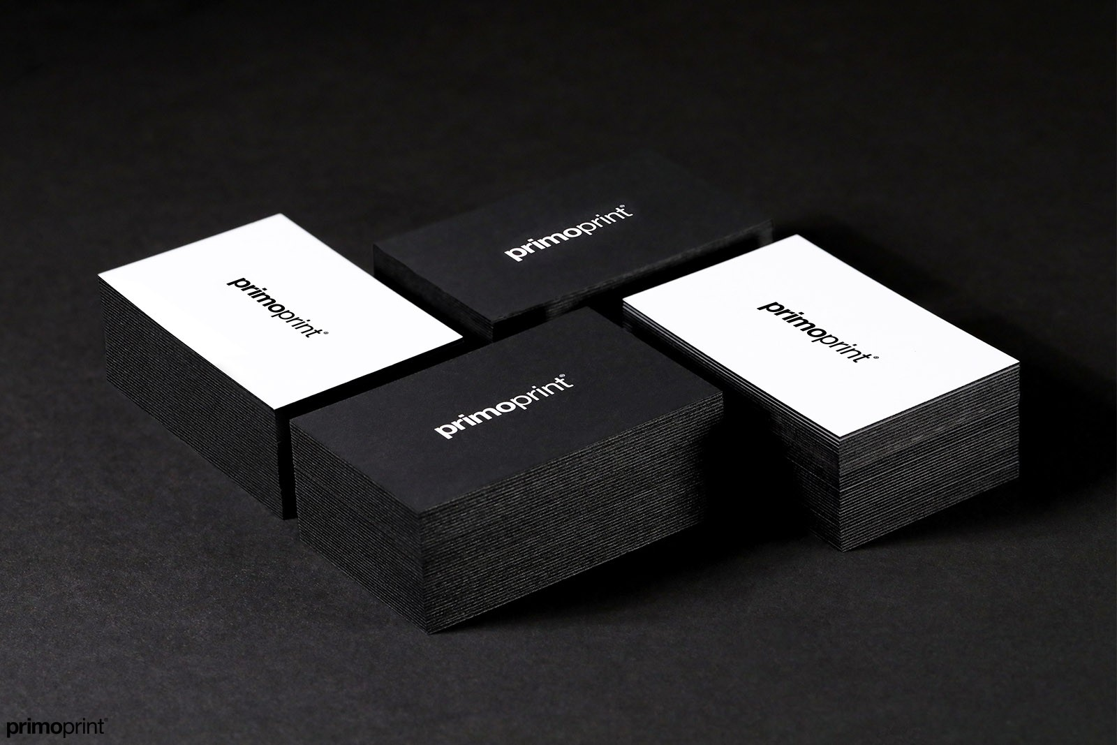 New Black Painted Edge Business Cards.