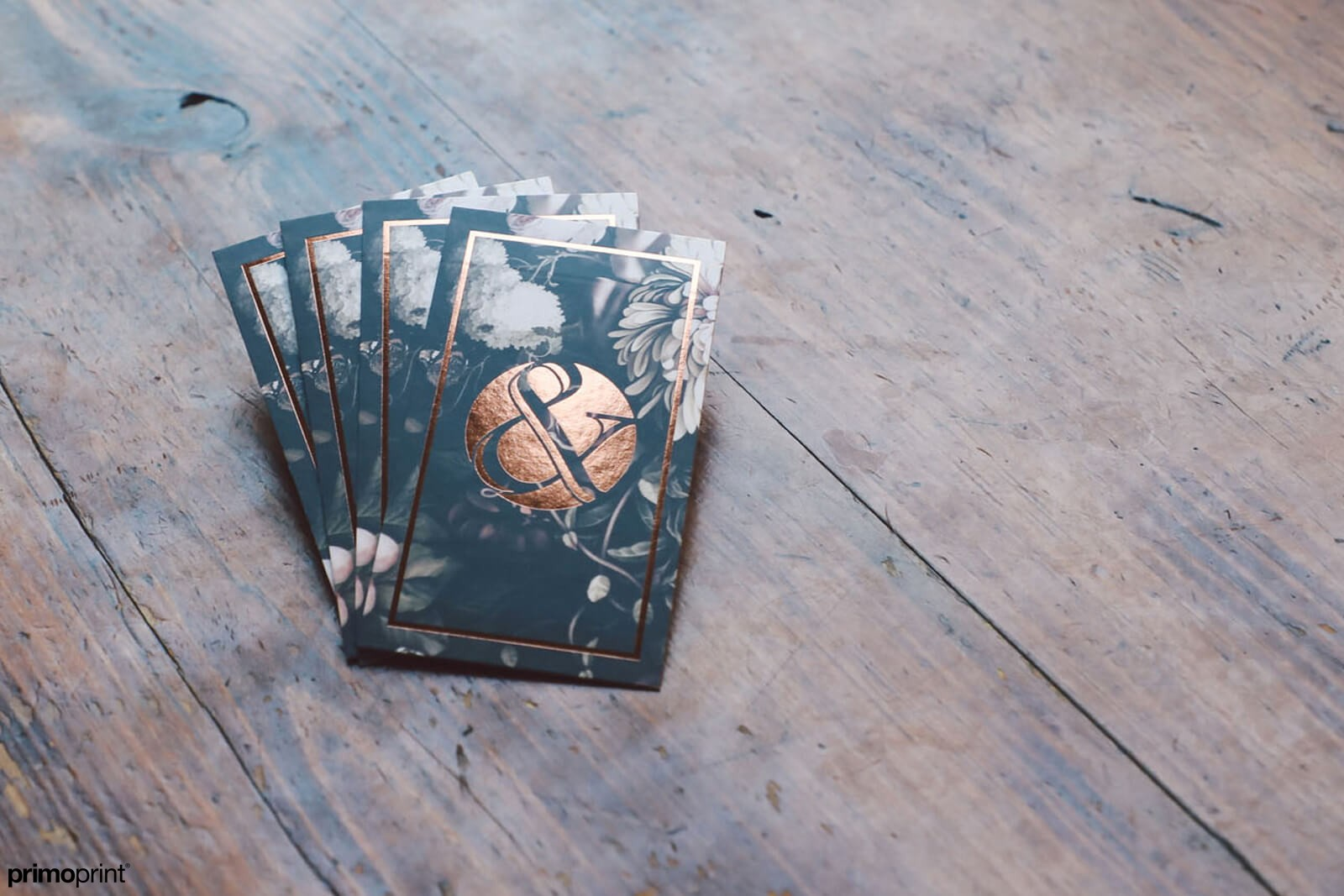 Copper Foil Business Cards