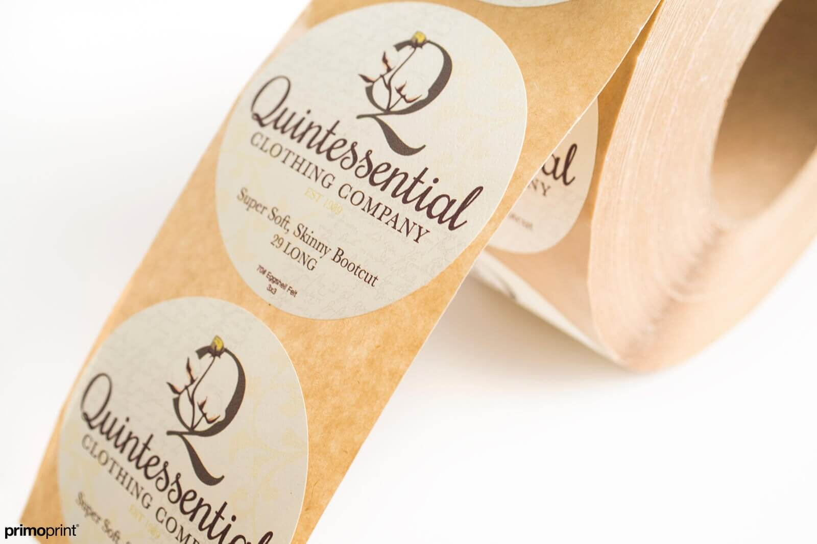 Egg Shell Felt Roll Label Printed by Primoprint