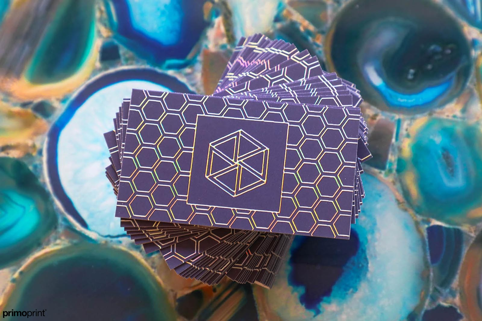 Enhance your business card design by including Holographic Foil