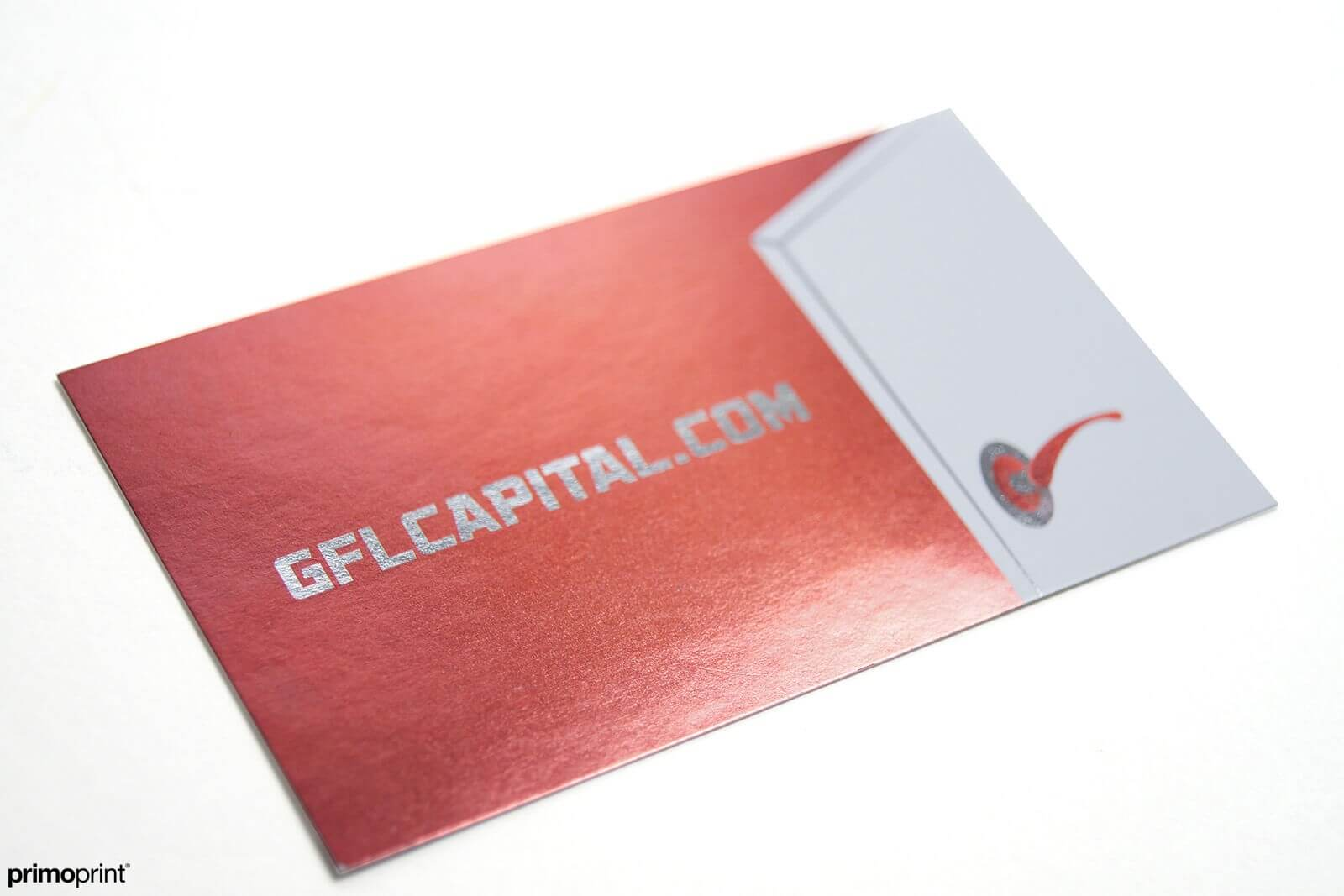 Spice up your business card by selecting inline foil business card printed by Primoprint.
