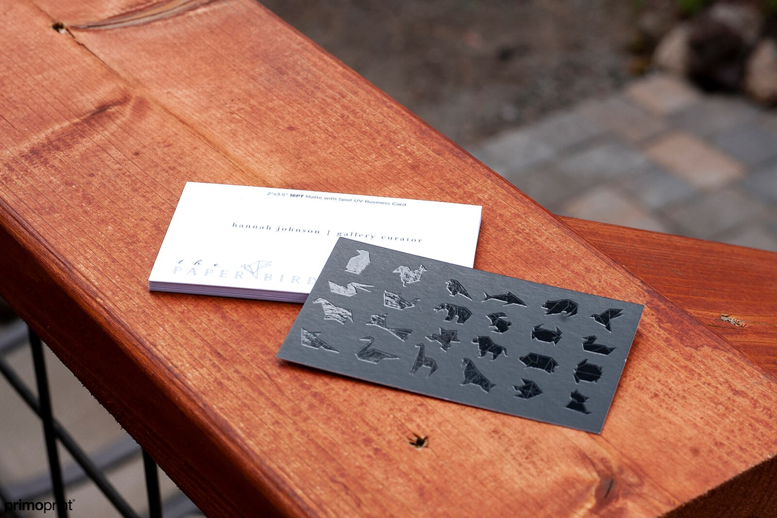 Matte business card with Spot UV.