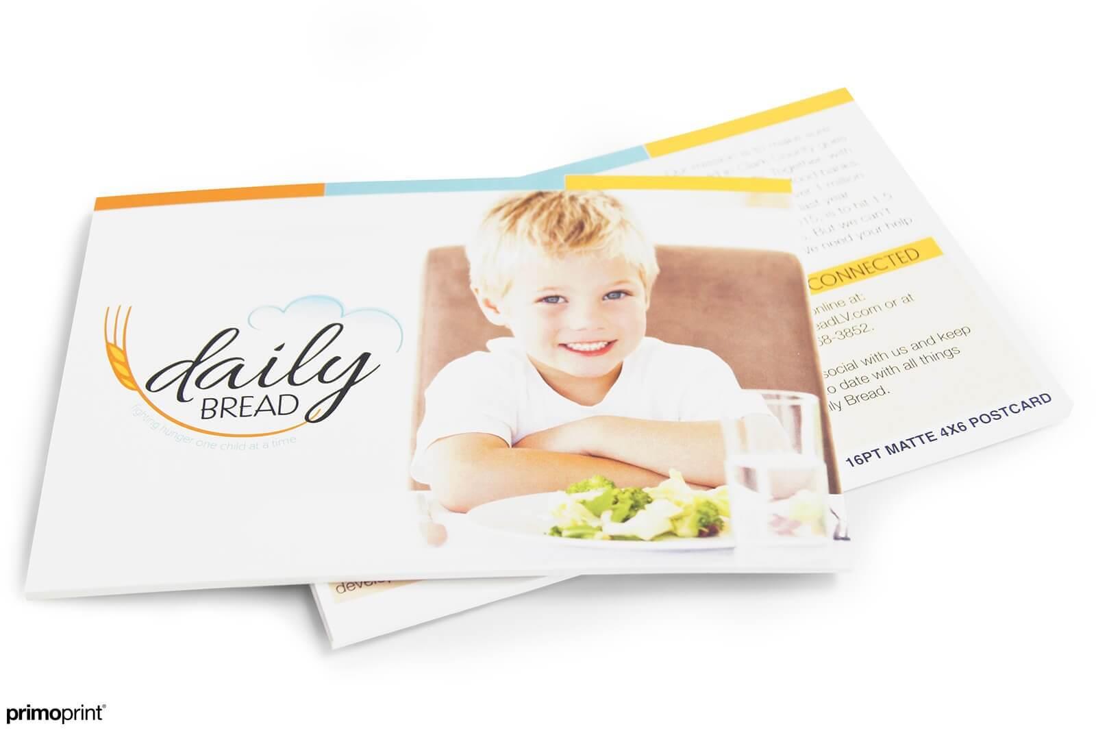 16PT Matte 4x6 postcard. Postcard designed by Primoprint.