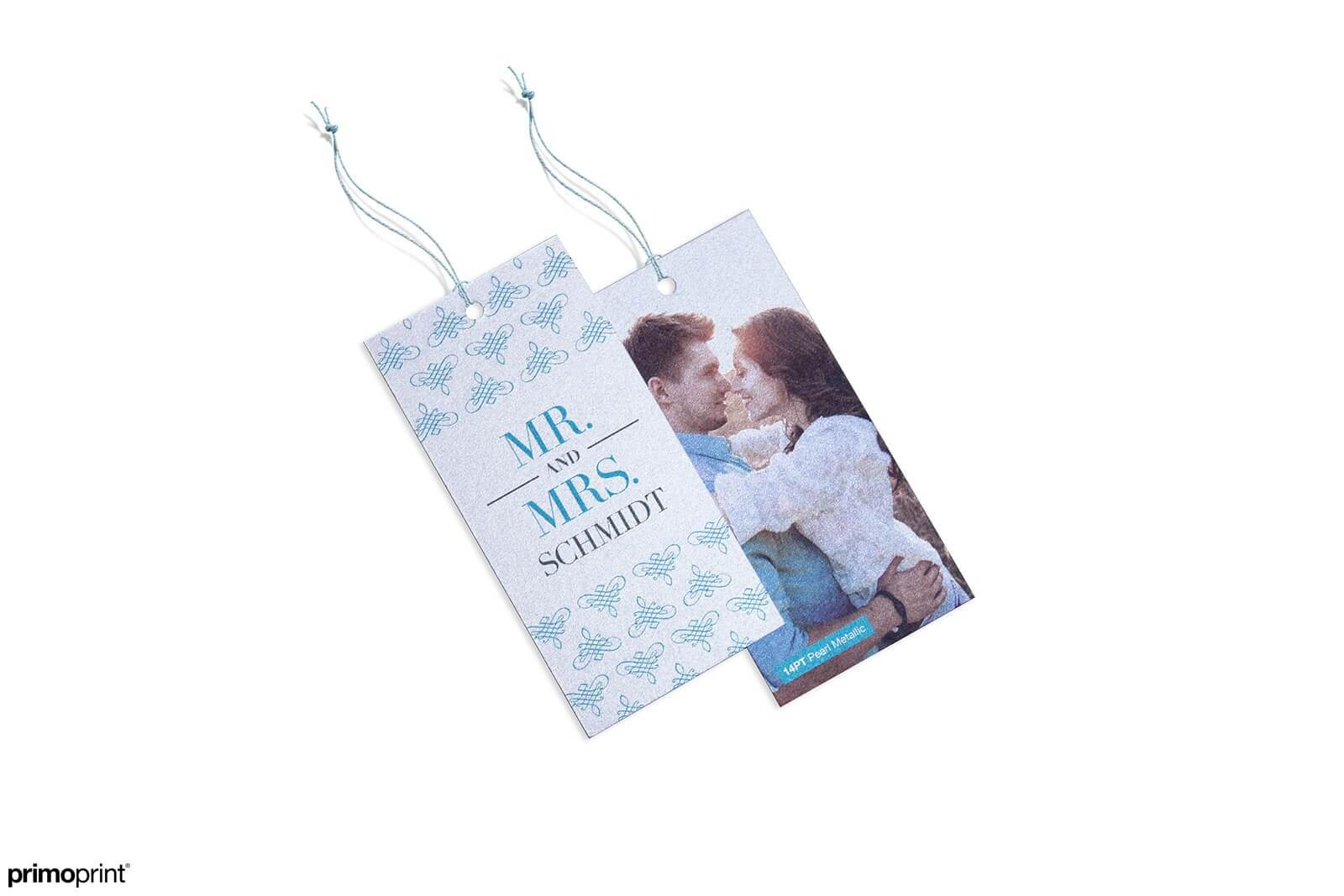 Pearl Metallic hang tags offers a slight shimmer with pearl fibers.