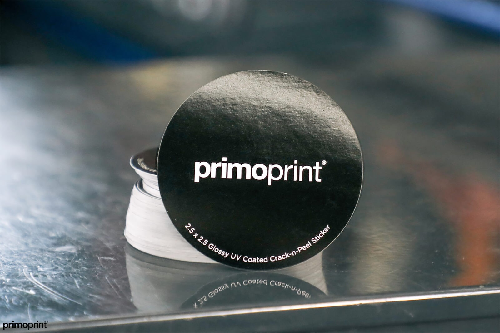 Racing stickers printed by Primoprint.