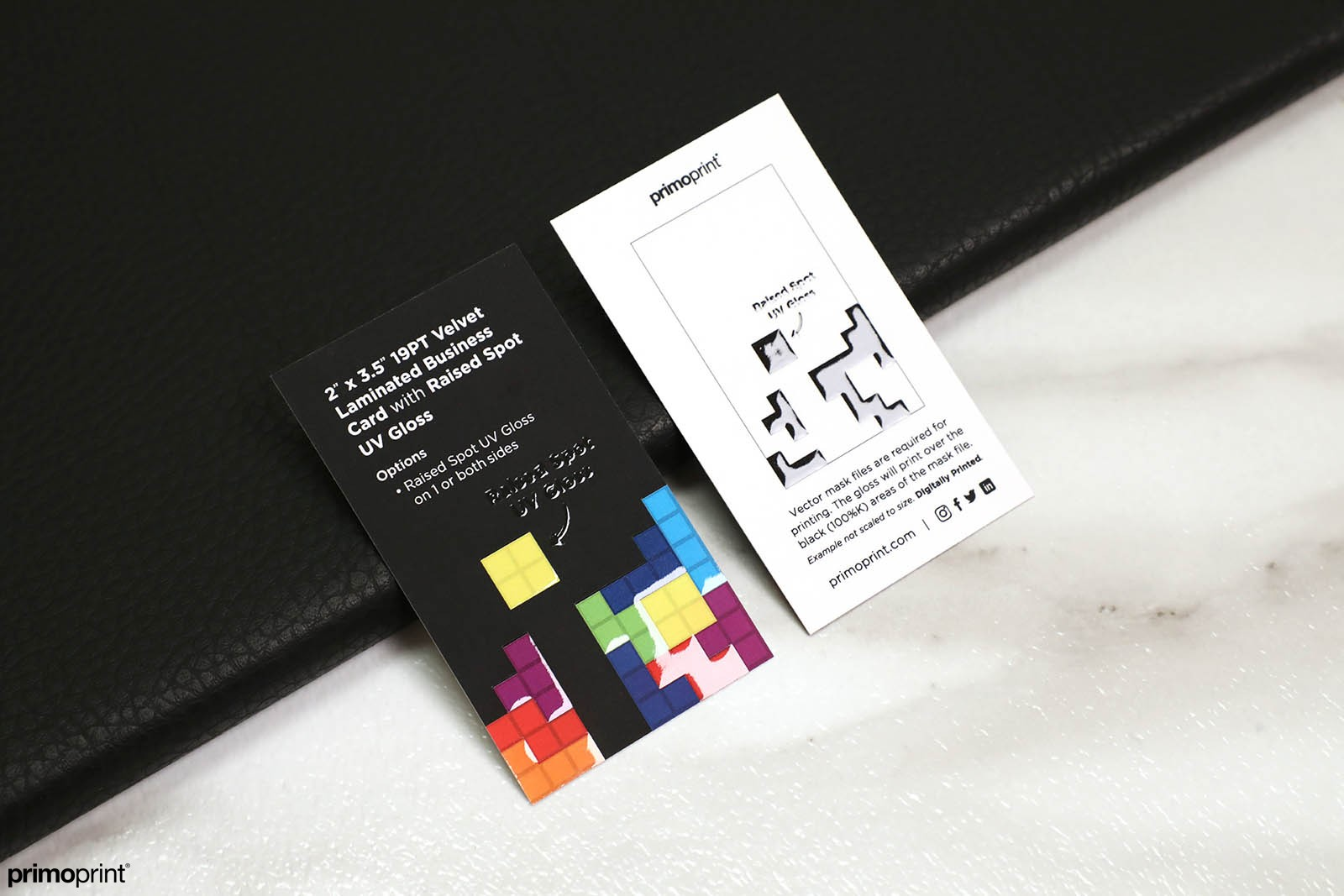 Velvet Laminated Business Card with Raised Spot UV Gloss