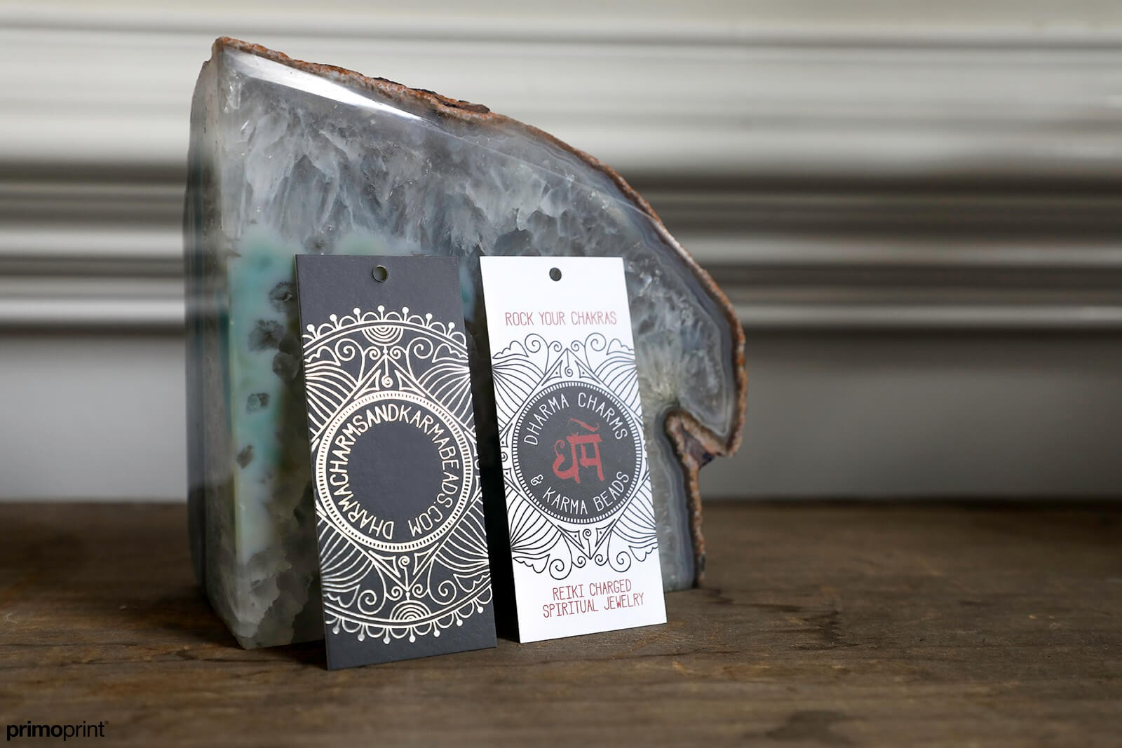 Make a statement with custom hang tags.