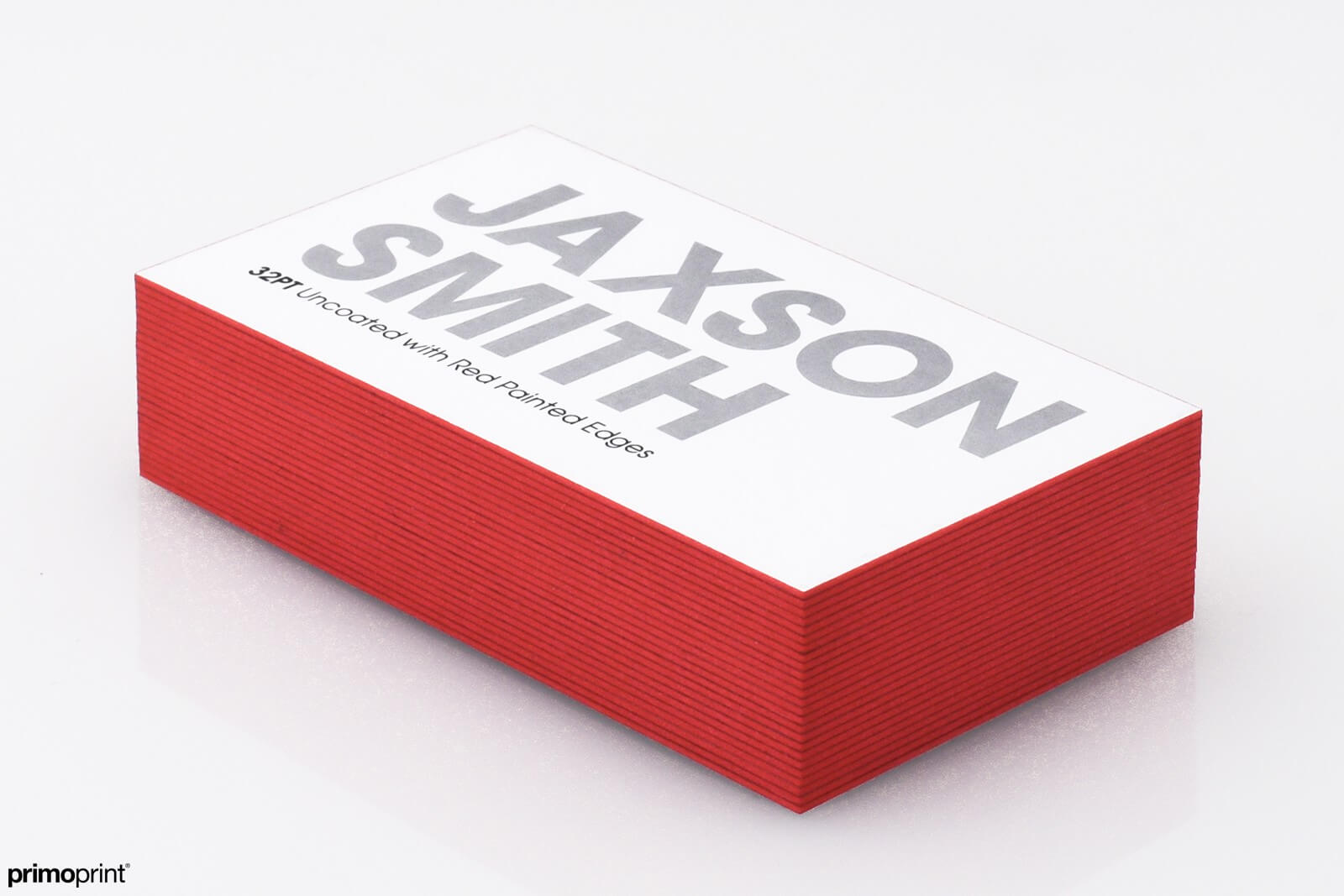 Make a statement with Red Painted Edge buisness cards.  Designed by Primoprint.