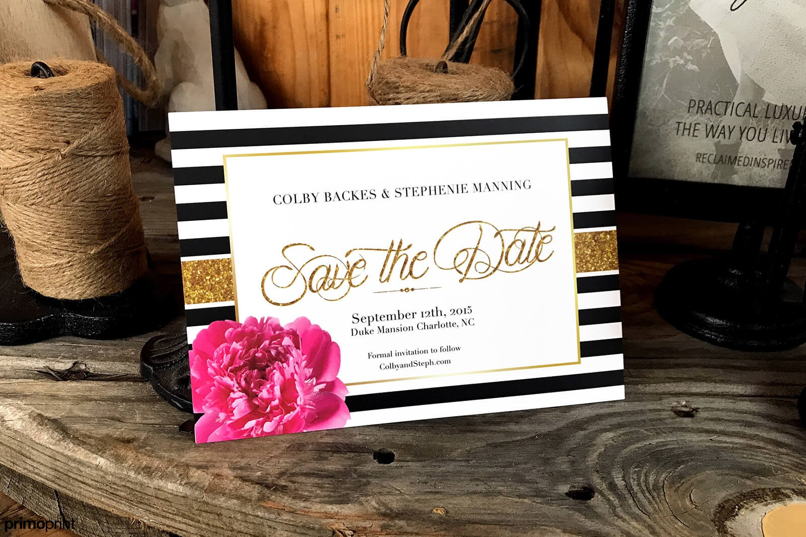 Silk Laminated Wedding Invitations