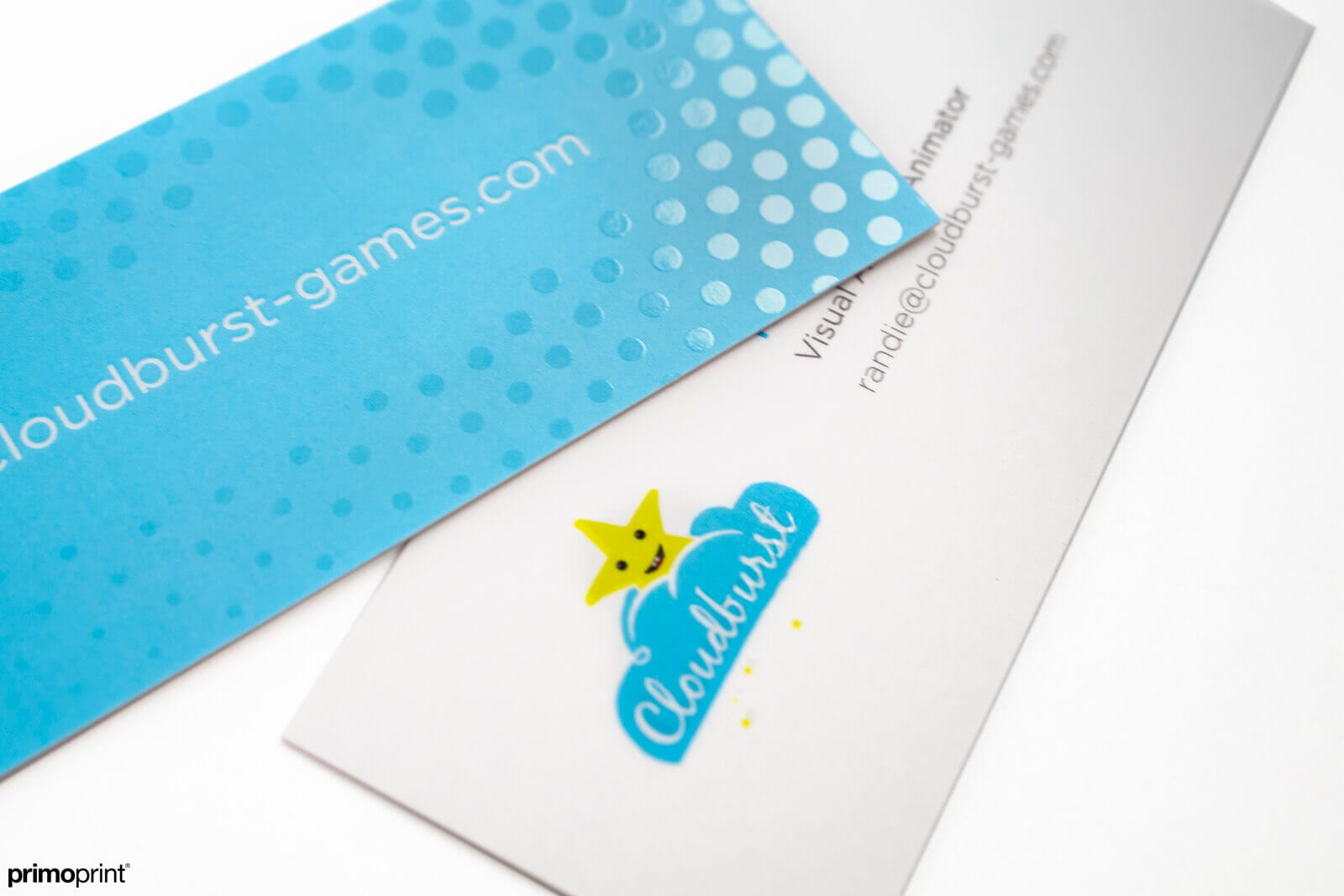 Slim Business Card with Spot UV.