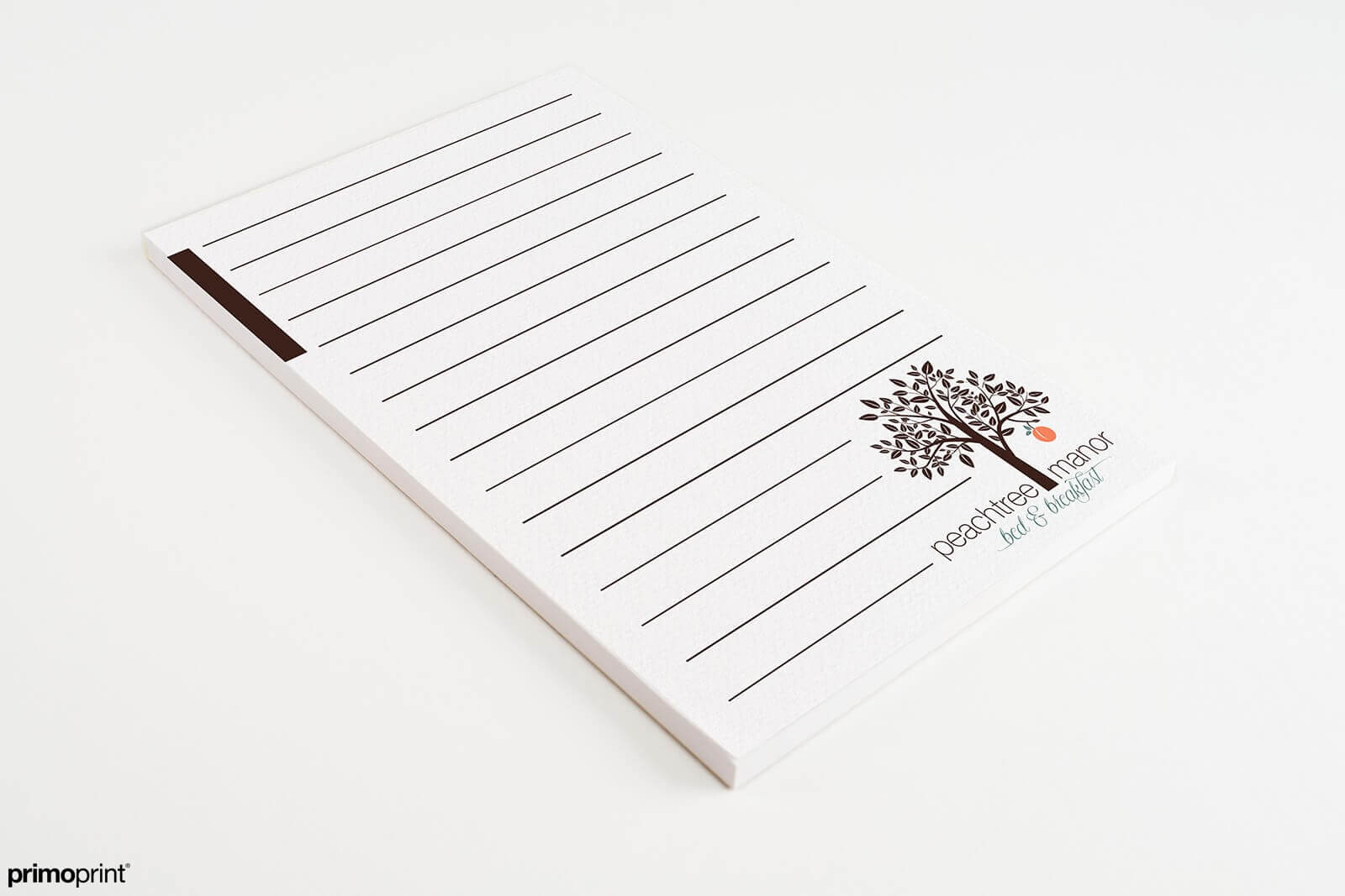 Smooth White Notepad designed by Primoprint.