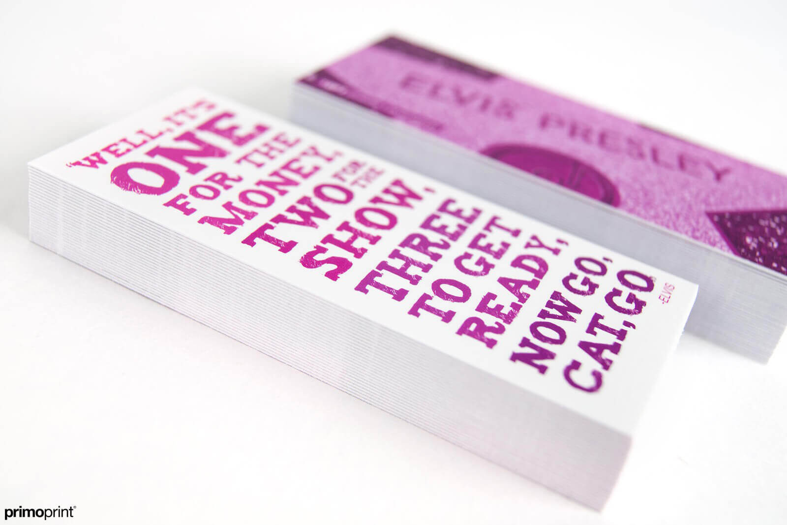 Slim Velvet laminated business cards printed by Primoprint.