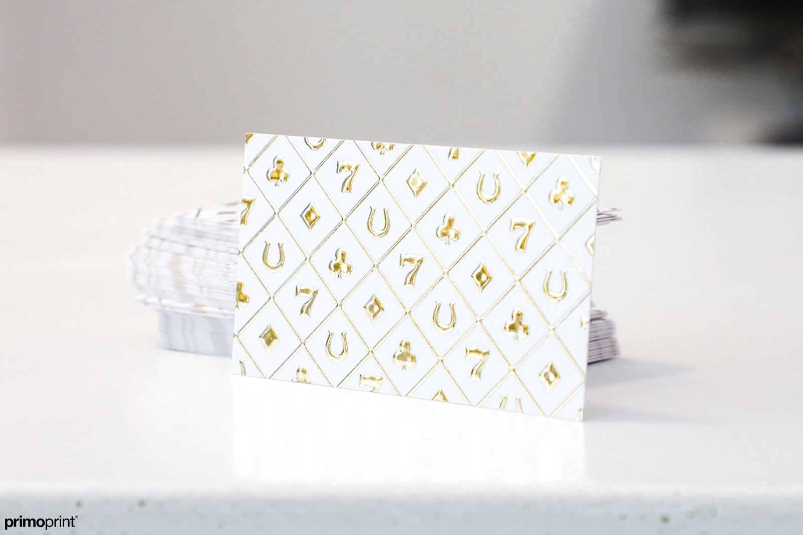 Velvet Business Cards with Gold Raised Foil