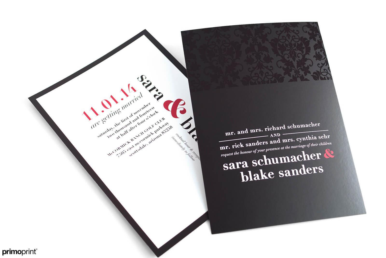 Silk Laminated Wedding Invitation with Spot UV | Primoprint