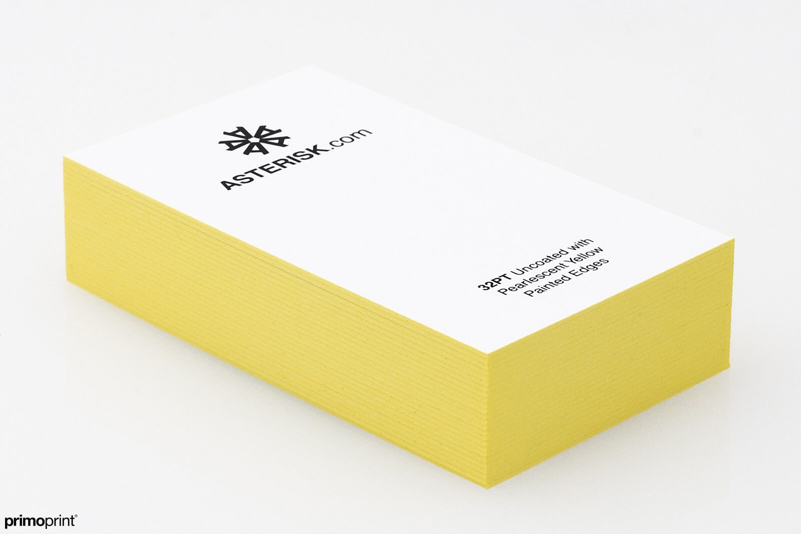 Yellow Painted Edge business card designed by Primo Print